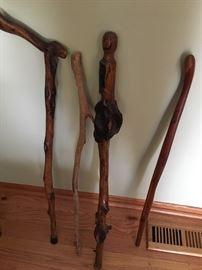 Old canes/walking sticks