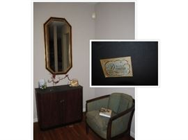 Slate console cabinet, Drexel chair and Octagon mirror