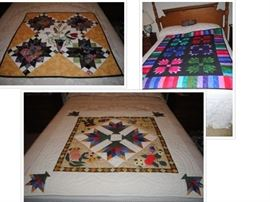 Collection of hanging or lap quilts