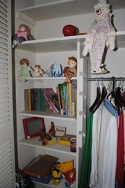 collection of children's books and toys