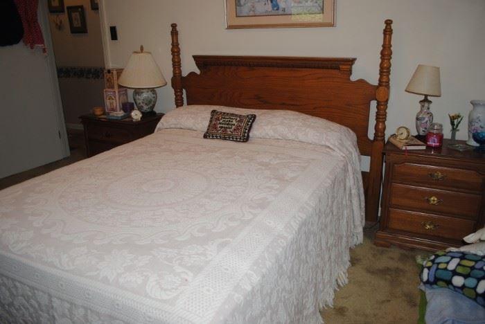 Oak bedroom set - 4 piece set