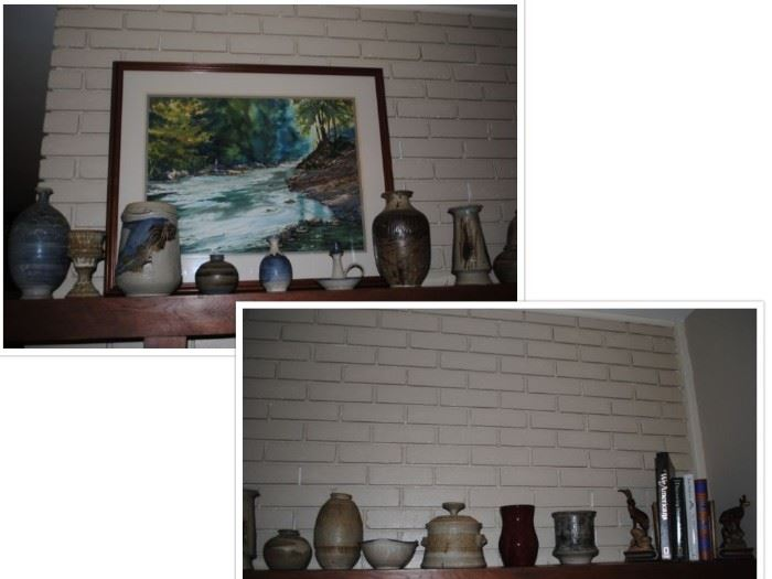 Local pottery - Bob Owens and a piece of Charlie West