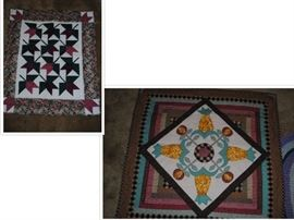More hanging or lap quilts - all hand