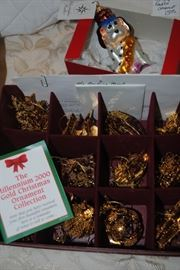 Radko ornament, Danbury Mint Gold Christmas ornaments