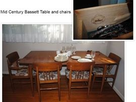 Bassett Mid Century Table and chairs