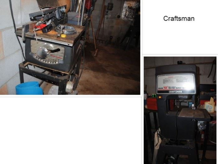 Craftsman Table and Band Saw