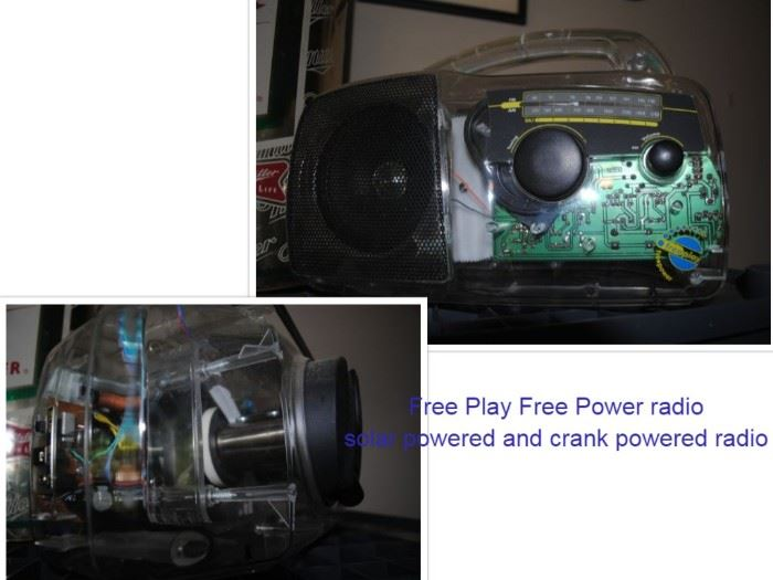 Free Play Free Power radio solar powered and crank powered radio