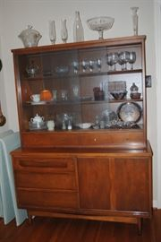 Bassett China Cabinet - pewter and glassware