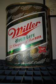 Miller High Life trash can - metal