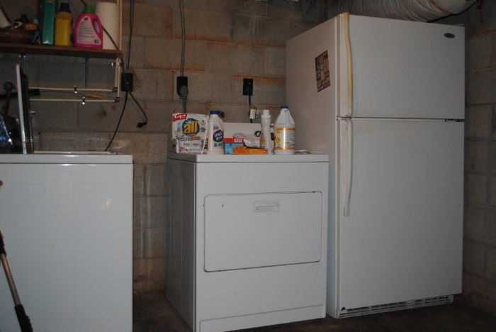 Washer, dryer and refrigerator