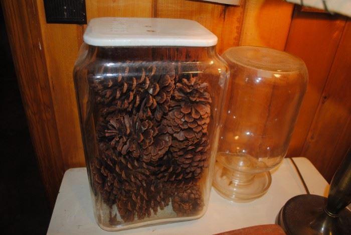Edison glass battery jar and chicken feeder
