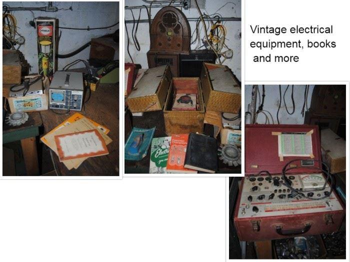 Tenma 72-300 laboratory Oscillascope, Telematic Ferret, Primus propane lamp, Hickok Model 600A Tube Tester, Precision Signal Generator E200C, Orecision Dynascan Model 177VTVM
