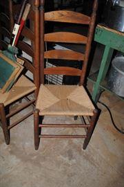 Ladderback chairs x 4