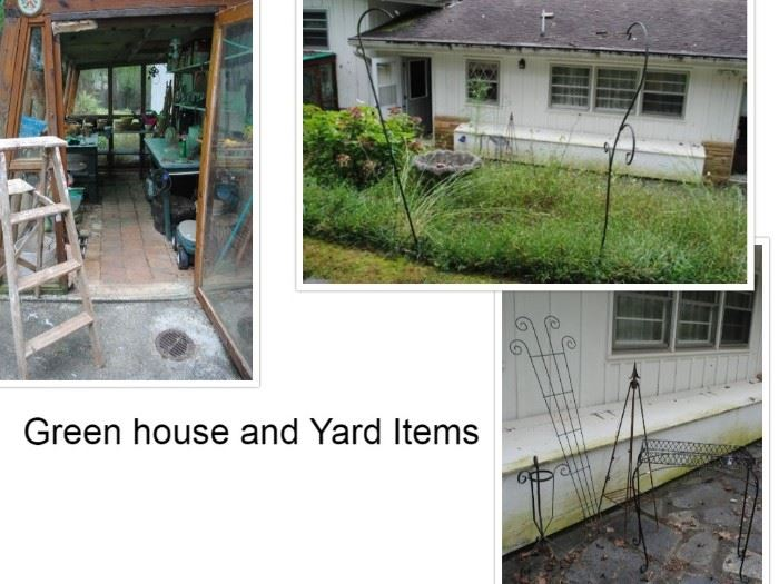 The Green house and other yard items