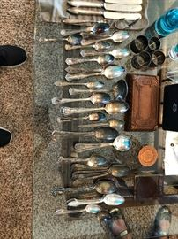 silver plate spoon collection