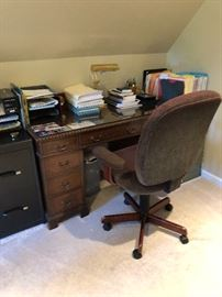 Kneehole desk and Chair