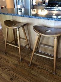 Pair of Oak Bar stools