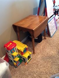 Fisher Price toys Small Child's drop leaf table