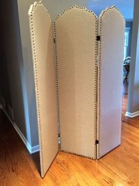 Canvas Screen with brass tacs