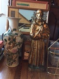Religious figurines, Floral Vases