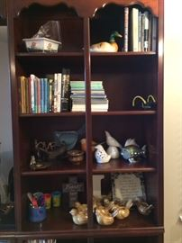 Books, fish and fowl collection. book shelf not available