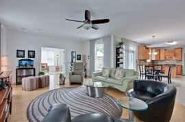 Living Room, Leather Sofa, Leather Chair, Leather Swivel Chairs, Glass &  Stainless Tables, Area Rugs