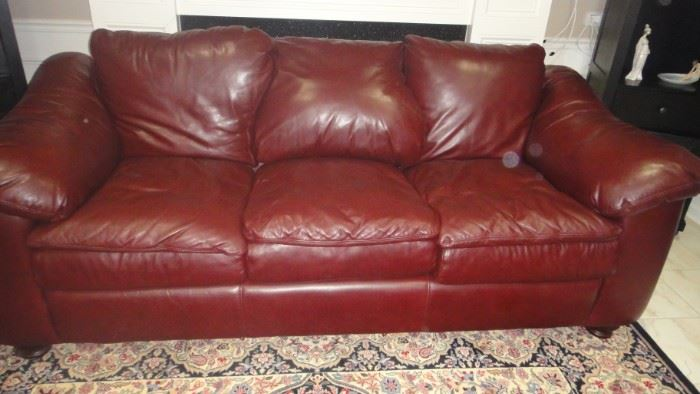 Leather Creations Sofa, matching chair