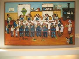 """Threshers' Banquet,"" painting by Emily Lunde"