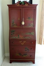 Secretary Desk with Oriental Painting