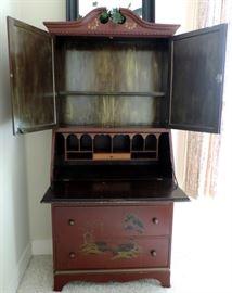 Secretary Desk with Oriental Painting (Interior)