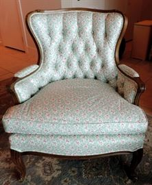 Armchair Upholstered in Chintz Fabric