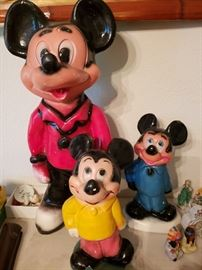 Chalkware Mickey Mouse banks