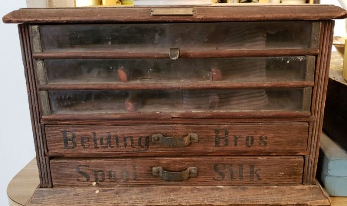 Antique Thread box, display box