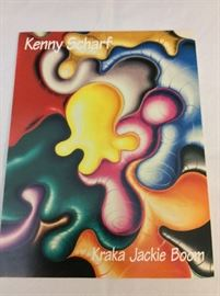 """Lok Glob"" by Kenny Scharf. Signed and Numbered 71/150. 30"" x 40"".  Pamphlet with signed print."