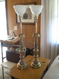 pair of Stiffel lamps.