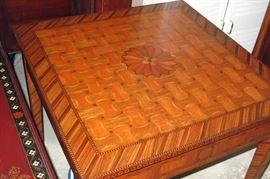 Maitlans-Smith inlaid game  table