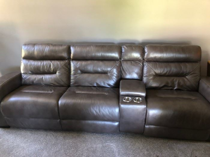 Less than 6 months old ART VAN sofa with USB ports electric recliners     if you are serious and interested you can call we will sell this before the sale as well. $900 OBO paid $2900 have receipts