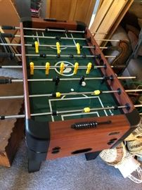 foosball table and hockey $250 will sell before the sale serious calls only! thanks!