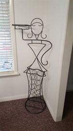 Fancy metal wine rack/ butler