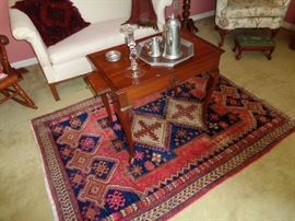 Great rug and tea table