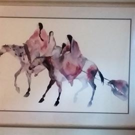 watercolor poster size Native Americans