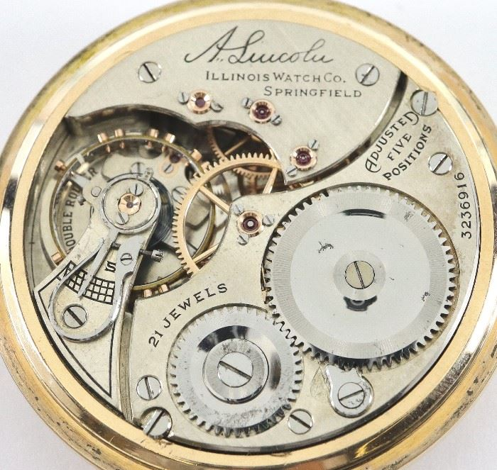 "21 j III ""A. Lincoln"" RR Watch"