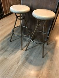 #3	bar stools metal 30 hgt 2@ 25	 $50.00