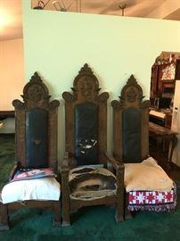 Fantastic antique church chairs
