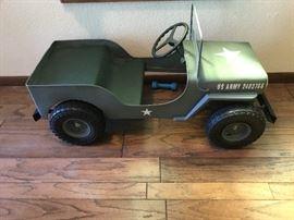 Wonderful jeep pedal car