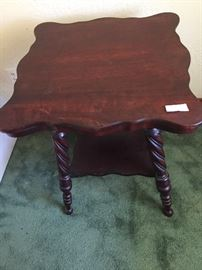 Turn of the century (1900) fancy  Mahogany center table