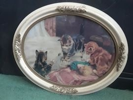 Early 1900's kitten print