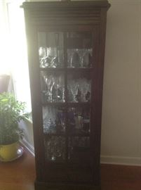 "Vintage display cabinet...measures 26"" wide, 17"" deep and 71"" tall.   Presale at $125"