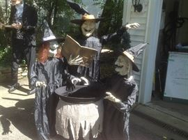 3 witches and a cauldron...eyes light up and middle witch talks.