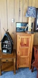 Another small pine cabinet